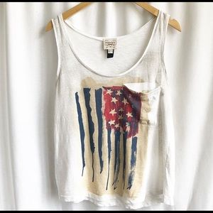 🌷3 FOR $25 SALE🌷 Mango jeans American flag tank
